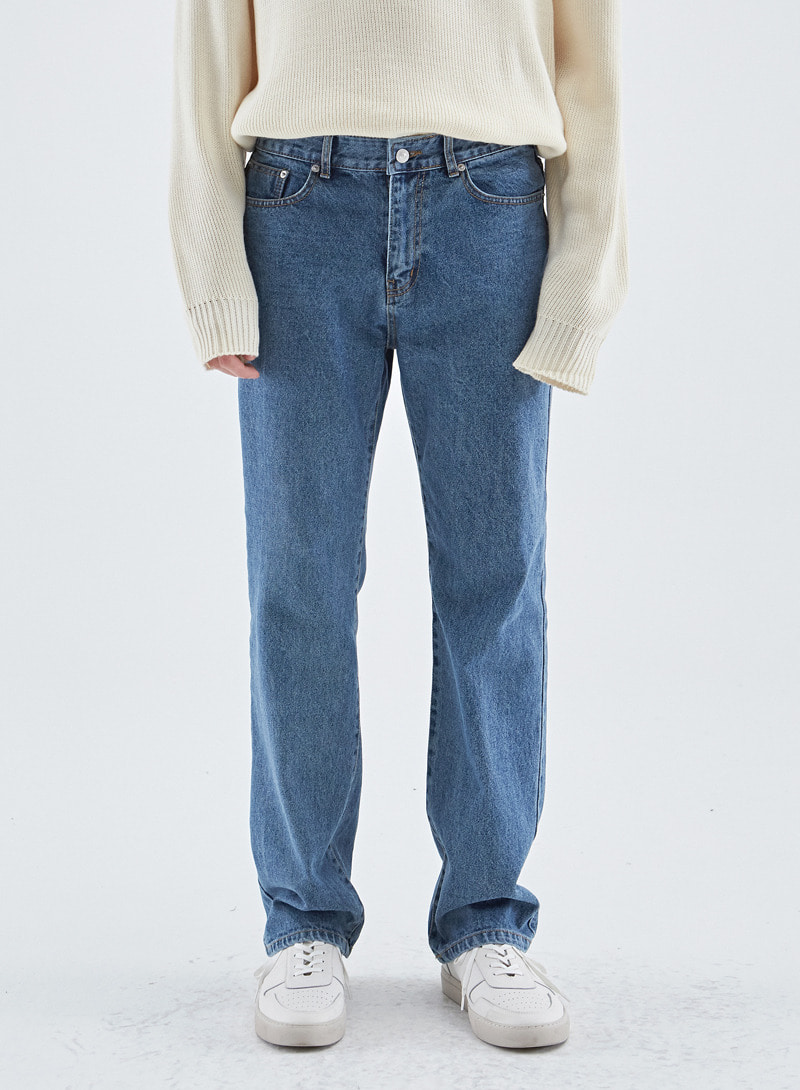LONG WIDE NON SPAN DENIM PANTS
